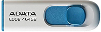 Usb flash накопитель A-data C008 White-Blue 64 Гб (AC008-64G-RWE) -