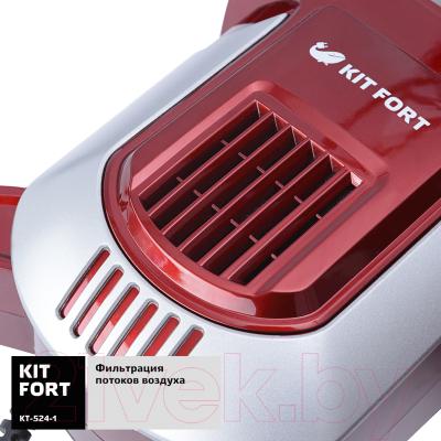 Вертикальный пылесос Kitfort KT-524-1 (красный/серый)