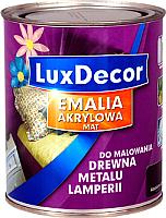 Эмаль LuxDecor Ванильный крем (750мл, матовая) -