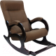 Кресло-качалка Calviano Бастион 2 с подножкой (рогожка United 8) -