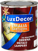 Эмаль LuxDecor Черный бриллиант (750мл, глянец) -