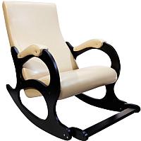 Кресло-качалка Calviano Бастион 4-2 с подножкой (экокожа/селена крем) -