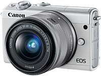Беззеркальный фотоаппарат Canon M100 Kit 15-45mm (серый) -