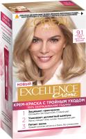 Крем-краска для волос L'Oreal Paris Color Excellence 9.1 (очень светло-русый пепельный) -