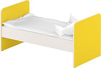 Односпальная кровать Славянская столица ДУ-КО12 (белый/желтый) -