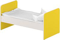Односпальная кровать Славянская столица ДУ-КО14 (белый/желтый) -
