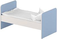 Односпальная кровать Славянская столица ДУ-КО14 (белый/синий) -