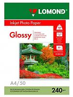 Фотобумага Lomond A4, 240 г/м, 50 л. / 0102135 (глянцевая) -
