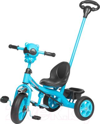Детский велосипед с ручкой Sundays SJ-SS-28 (голубой)