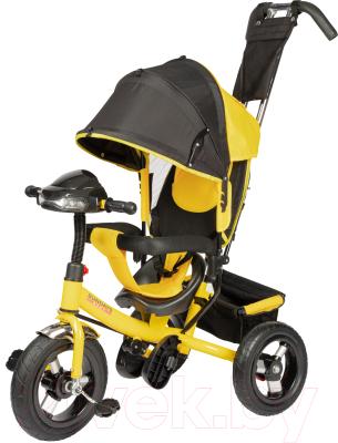 Детский велосипед с ручкой Sundays SJ-BT-92 (желтый)