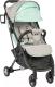 Детская прогулочная коляска Sundays Baby S600 Plus (черная база, серый/бирюзовый) -