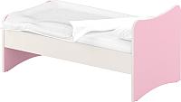 Односпальная кровать Славянская столица ДУ-КО12-13 (белый/розовый) -