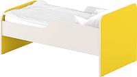 Односпальная кровать Славянская столица ДУ-КО12-11 (белый/желтый) -