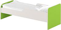 Односпальная кровать Славянская столица ДУ-КО12-11 (белый/зеленый) -