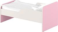 Односпальная кровать Славянская столица ДУ-КО12-11 (белый/розовый) -