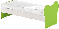 Односпальная кровать Славянская столица ДУ-КО12-10 (белый/зеленый) -
