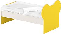 Односпальная кровать Славянская столица ДУ-КО12-10 (белый/желтый) -