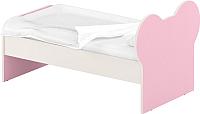 Односпальная кровать Славянская столица ДУ-КО12-10 (белый/розовый) -