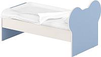 Односпальная кровать Славянская столица ДУ-КО12-10 (белый/синий) -