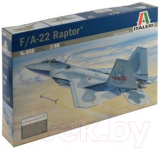 Сборная модель Italeri Многоцелевой истребитель F-22 Raptor 1:48 / 850