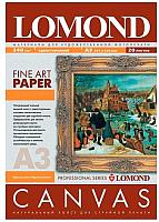 Холст для печати Lomond A3, 340 г/кв.м., 20 л. / 0908332 (ярко-белый, хлопковый) -