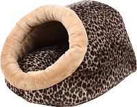 Домик для животных Pinkaholic Snuggle / CAOD-AU9222-BR-FR (коричневый) -