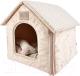 Домик для животных Pinkaholic Luna House / NARA-AU7327-BE-FR (бежевый) -