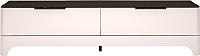 Тумба Ижмебель Танго 14 (белый матовый/черный матовый/белая глянцевая пленка) -