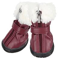 Ботинки для собак Puppia Pathfinder / PAPD-SH1345-WN-L (L, бордовый) -