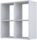 Стеллаж Polini Kids Home Smart Кубический 4 секции (белый) -