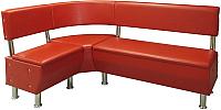 Уголок кухонный мягкий Lama мебель Сэнди-1 (Marvel Red) -
