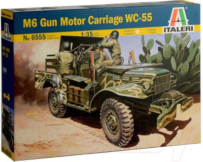 Сборная модель Italeri Самоходная артиллерийская устновка M6 WC-55 1:35 / 6555