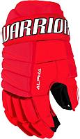 Перчатки хоккейные Warrior Alpha Qx3 / QX3GSR7-RDW13 (красный/черный/белый) -