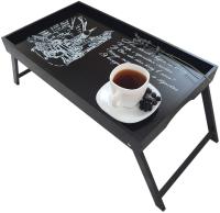 Поднос-столик Grifeldecor Старый город / BZ192-8В280 (черный) -