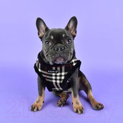 Шлея-жилетка для животных Puppia Dean Harness B / PASD-HB1657-BK-S (черный)