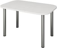 Обеденный стол Senira Р-001 (белый глянец/хром) -