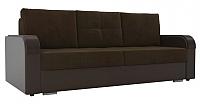 Диван Лига Диванов Мейсон / 102135 (велюр коричневый/экокожа коричневый) -