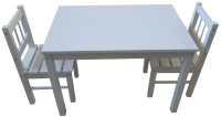 Комплект мебели с детским столом ВудГрупп 75x50x50 (белый) -