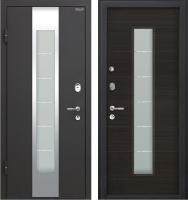 Входная дверь МеталЮр М35 Черный бархат/эковенге (96x205, левая) -