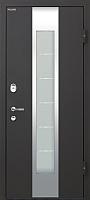 Входная дверь МеталЮр М35 Черный бархат/белый малибу (96x205, правая) -