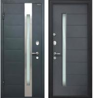 Входная дверь МеталЮр М36 Серый металлик/антрацит (96x205, левая) -
