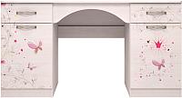 Письменный стол Ижмебель Принцесса 6 (лиственница сибиу) -