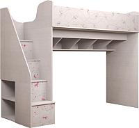Кровать-чердак Ижмебель Принцесса 18 (лиственница сибиу) -
