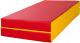 Гимнастический мат KMS sport Складной №3 1x1x0.1м (красный/желтый) -