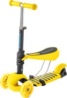 Самокат Sundays KB05-4 (желтый, светящиеся колеса) -