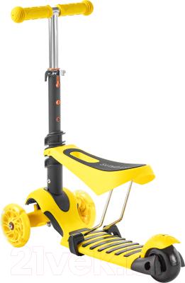 Самокат Sundays KB05-4 (желтый, светящиеся колеса)
