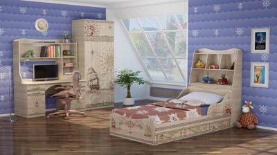 Двухъярусная кровать Ижмебель Квест 4 90 (сонома светлый)