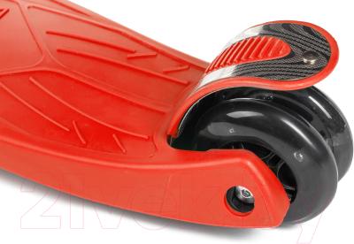 Самокат Sundays KB-02D-3 (красный, светящиеся колеса)