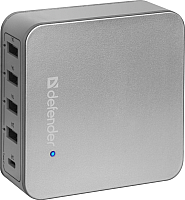 Адаптер питания сетевой Defender UPA-50 4 порта USB + Type C, 5V / 8A -