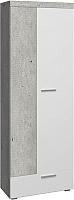 Шкаф Сакура Best №3 (бетон/белый глянец) -
